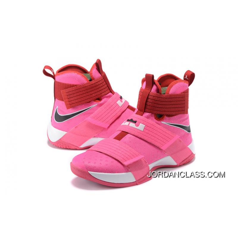 huge discount 45210 e42b0 ... 2016 Nike LeBron Soldier 10  Think Pink  New Style ...