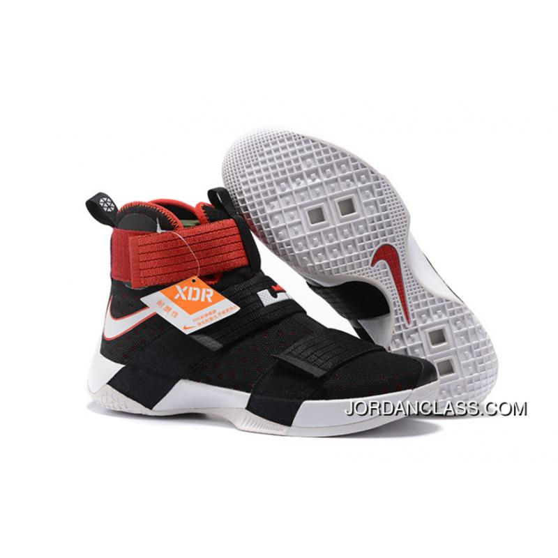 reputable site 591d7 92298  Bred  Nike LeBron Soldier 10 Black White-Red Free Shipping    ...