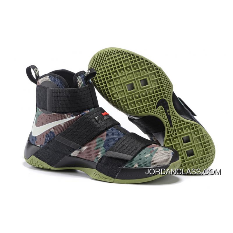 93aa0412df501 inexpensive nike lebron soldier 10 sfg camo black bamboo medium olive  authentic 6fbad e3d9c