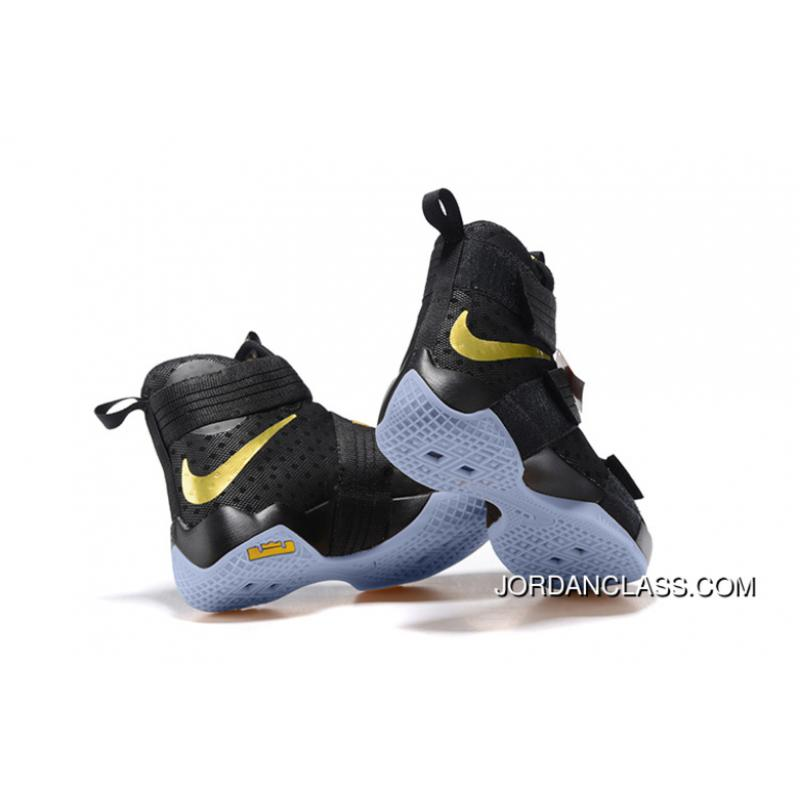 20227ba3bc5 Black Gold Top Deals  Nike LeBron Soldier 10 Finals ID. Black Gold Top Deals  ...