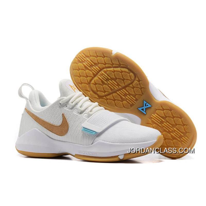 Nike PG 1 Ivory Oatmeal-Gum Light Brown-Vivid Sky Authentic ... 064a0e06ab