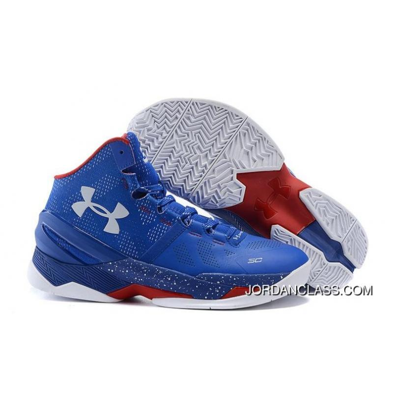37dbc860bf9  Providence Road  Under Armour Curry 2 Blue – White Red Top Deals    ...