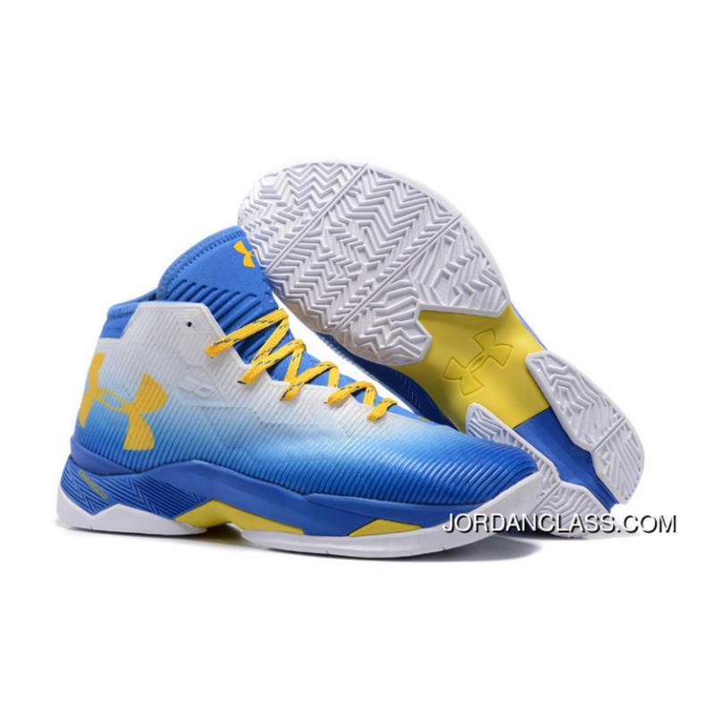db9f15df6df0 2016  73-9′ Under Armour Curry 2.5 White Team Royal Taxi Cheap To ...