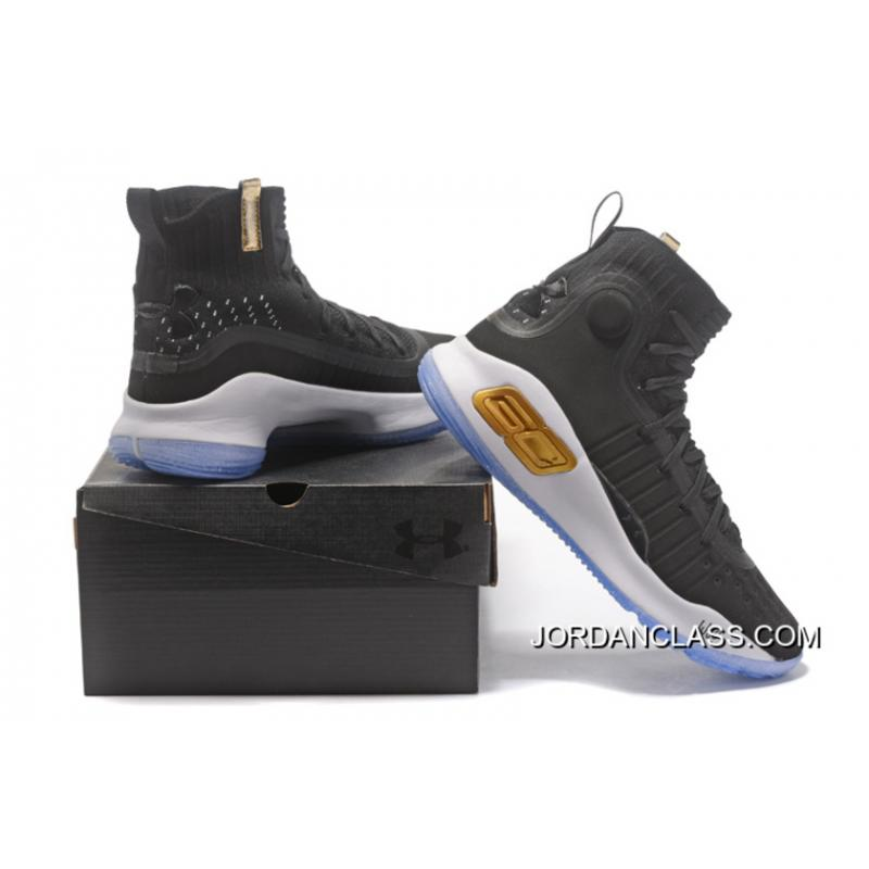 905c4b79231 Under Armour Curry 4 Basketball Shoes Black White Authentic ...