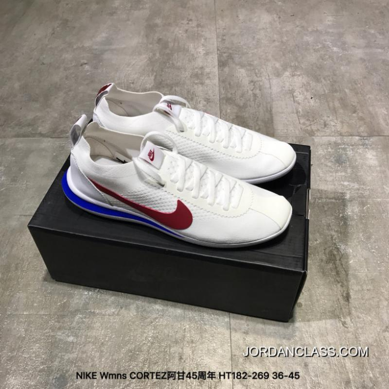super popular 65a74 9b5e1 New Release Nike Womens CORTEZ FLYKNIT CORTEZ The 45th Anniversary Of Knit  With Running Shoes HT182-269