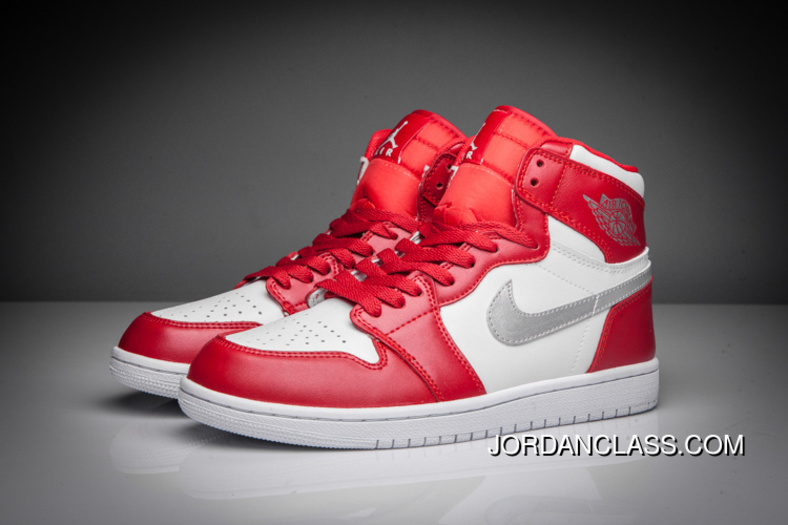 "2016 ""Silver Medal"" Air Jordan 1 Retro High Gym Red Metallic Silver ... c00b74fae"