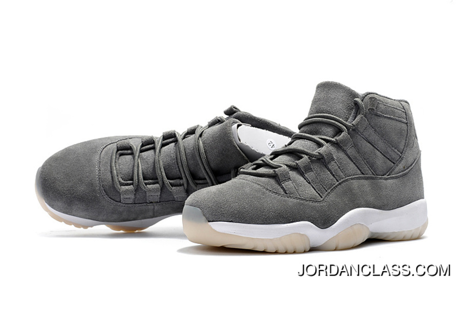 "low priced 39bd3 2f2de Cheap Air Jordan 11 Retro Premium ""Suede"" Cool Grey/Sail 2016 Release New  Style"