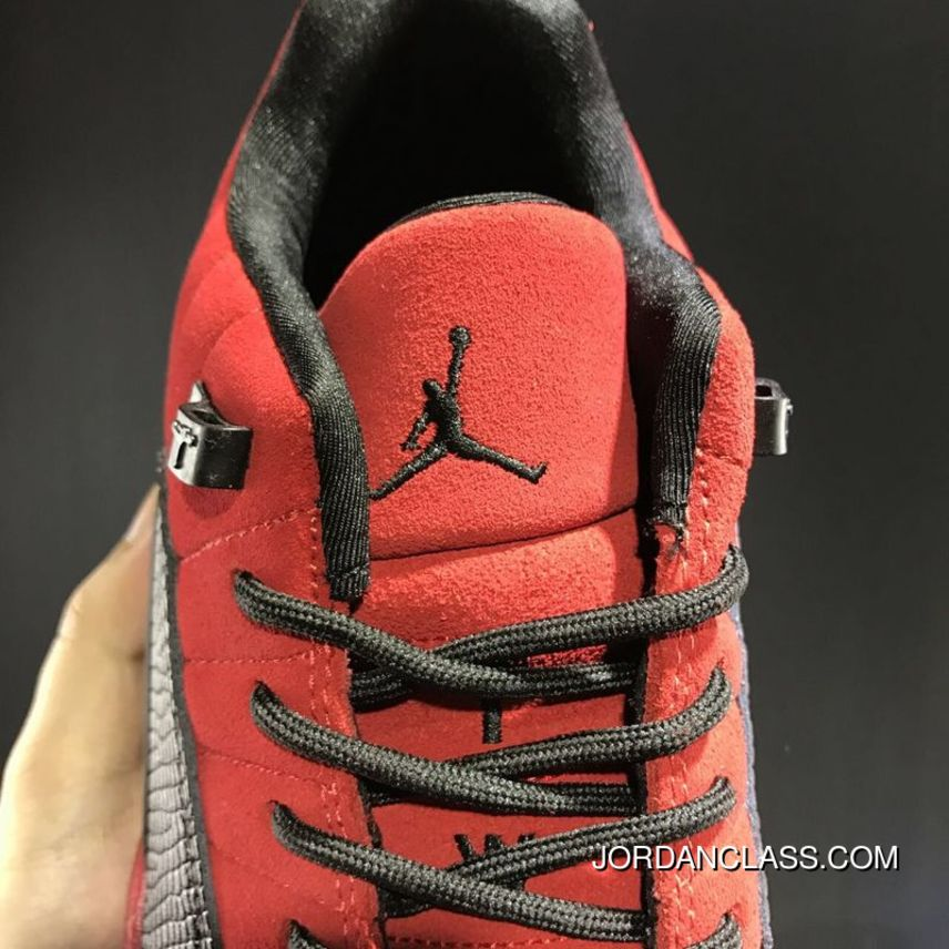 693c0768ae2cb9 Cheap Air Jordan 12 Low Red Suede Release Top Deals