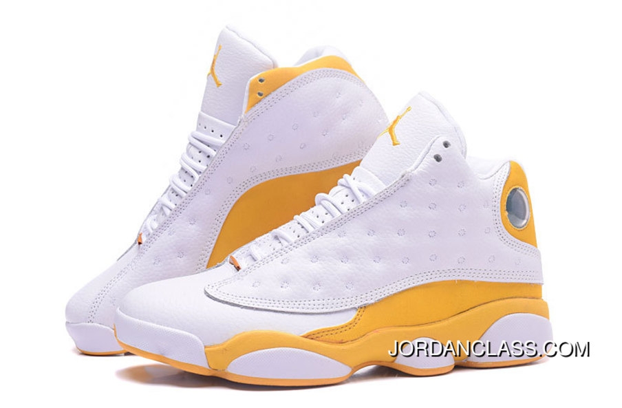 online store c35c2 6cda0 Fred Jones Indiana 'Pacers' Air Jordan 13 PE White Yellow Top Deals