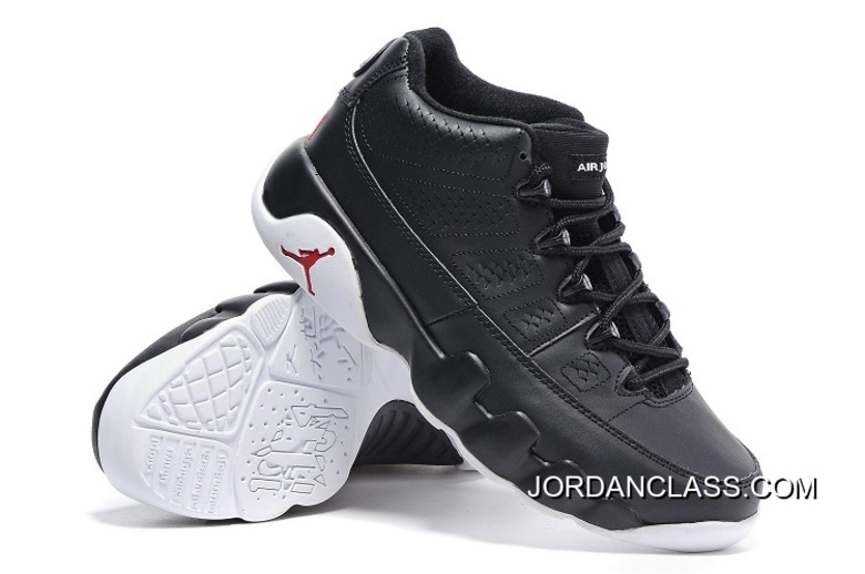 """aa05a00935e5c4 """"Chicago"""" Air Jordan 9 Low Black White-Gym Red New Style """""""