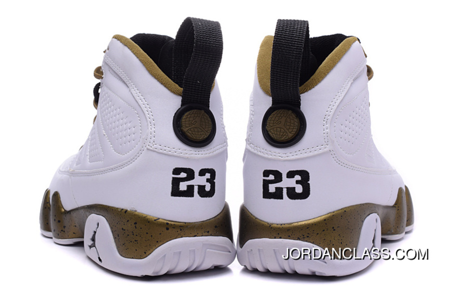 50884574ef1e19 Copper Statue  Air Jordan 9 White Black-Militia Green New Release ...