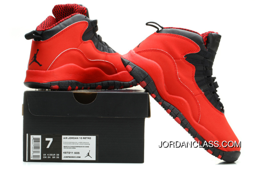 0b23d5ee27ea Air Jordan 10 Fusion Red Black-Laser Orange Top Deals
