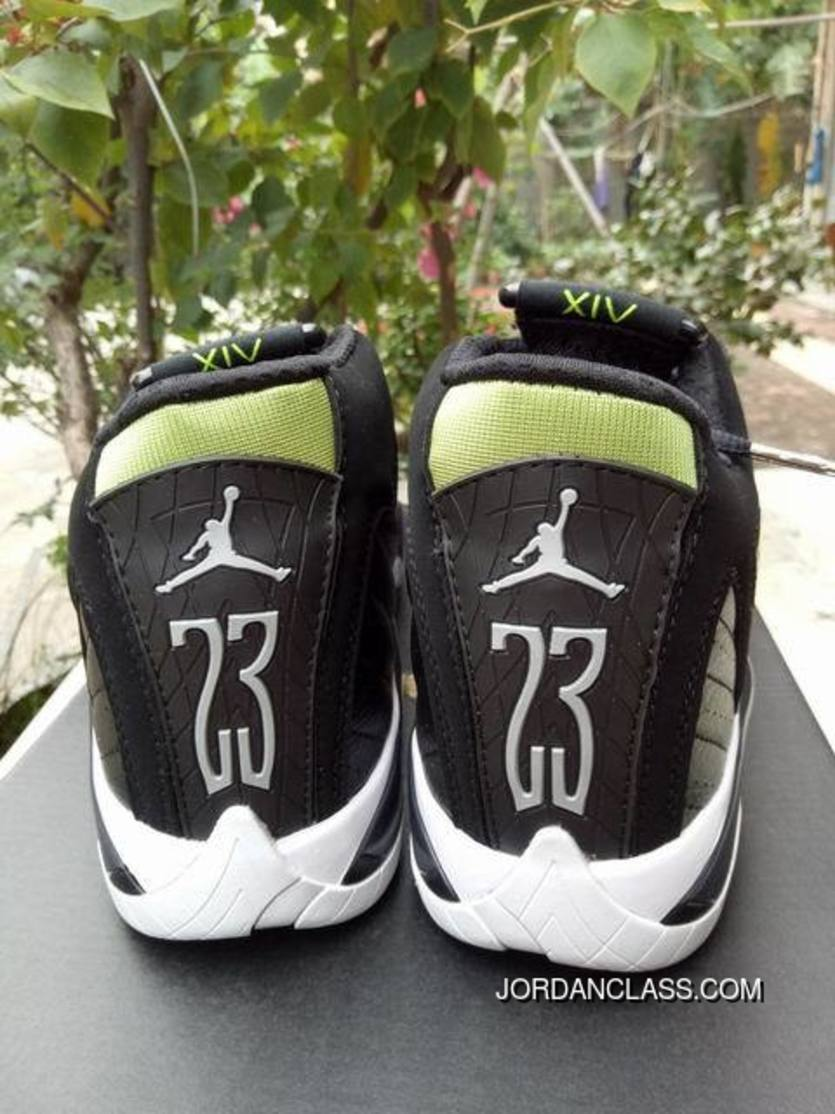 "78a73946db5b 2016 ""Indiglo"" Air Jordan 14 Black White-Vivid Green Free Shipping ..."