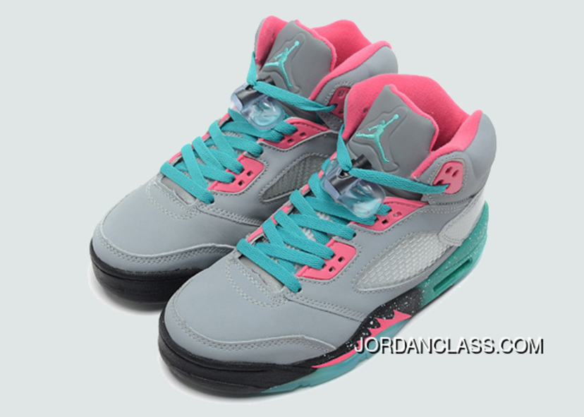 "5162e297033b ""Miami Vice"" Air Jordan 5 GS Grey Teal-Pink Top Deals """