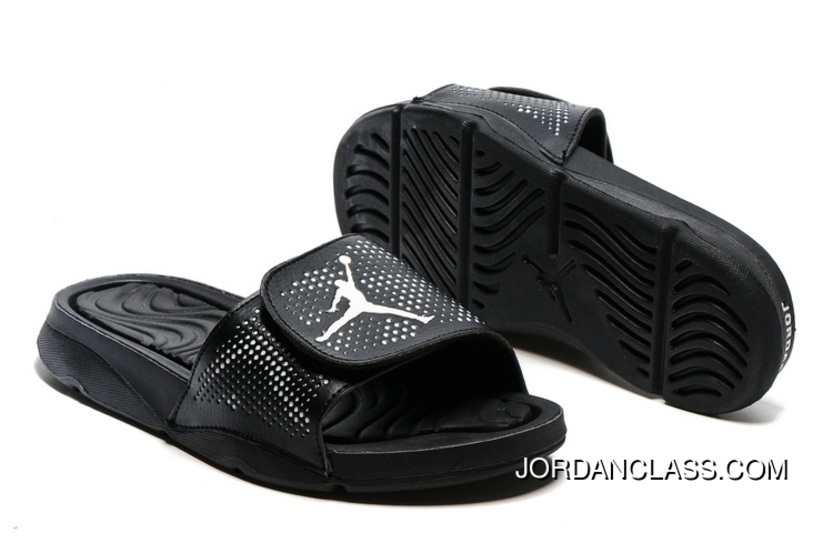 d68fd9f41 Air Jordan Hydro 5 All Black Slide Sandals Top Deals