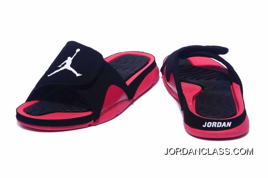 8f6e0f4de43c  Bred  Jordan Hydro 4 Retro Black Red New Release