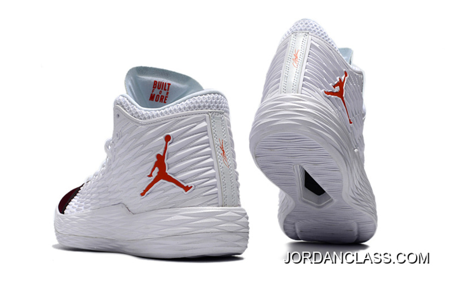 1797dc7f0a9 Jordan Melo M13 White Red Black Release New Style