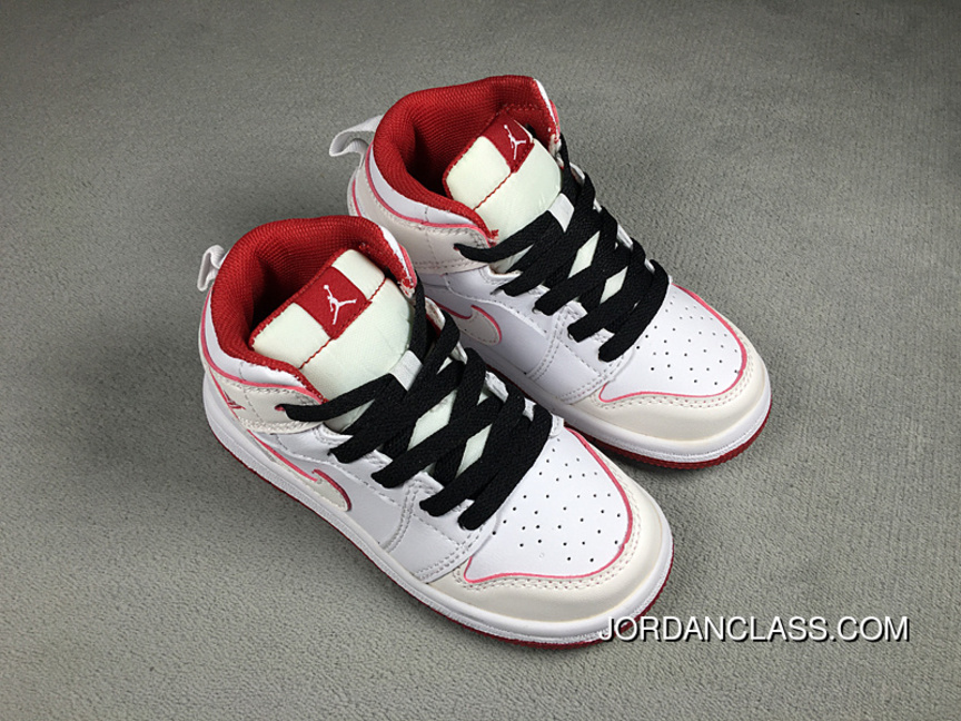 Nike Air Jordan Retro 1 White Red Black For Sale da2631e4c
