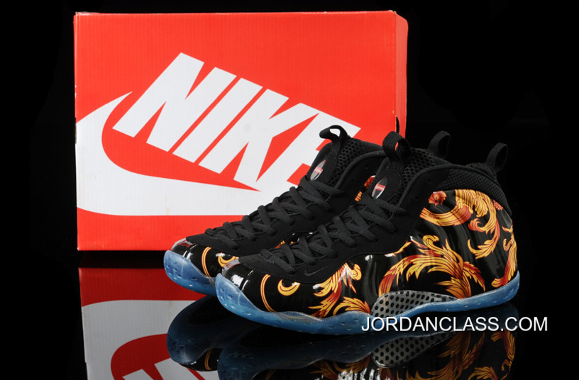 a63ee1aee8d Nike Air Foamposite One SP Supreme -Black Black-Metallic Gold 2014 Release  New