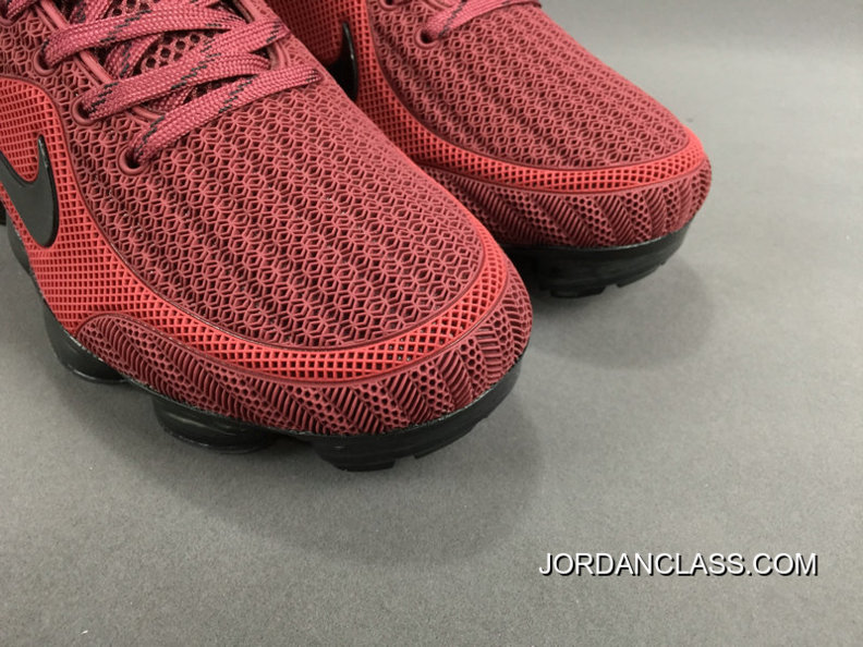 5df29c79229 NIKE AIR VAPORMAX FLYKNIT 2018 Red Black Authentic