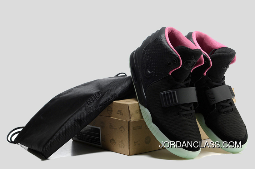 Glow In The Dark Nike Air Yeezy 2  Black Solar Red  Discount e169899ce
