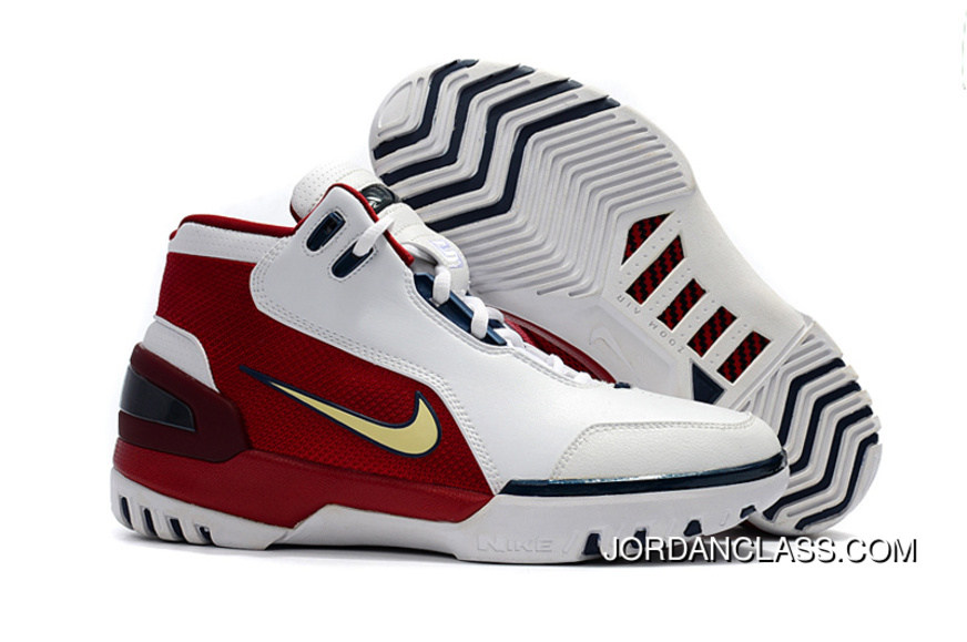 0abb2c5bc1c Nike Air Zoom Generation  First Game  Retro White Red And Gold Top Deals