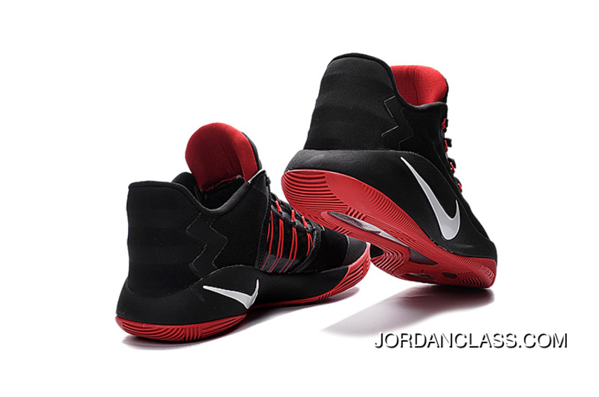 18b10c68342a Nike Hyperdunk 2016 Low Black Red White Men s Basketball Shoes For Sale