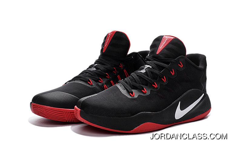 Nike Hyperdunk 2016 Low Black Red White Men s Basketball Shoes For Sale bc9b6c180
