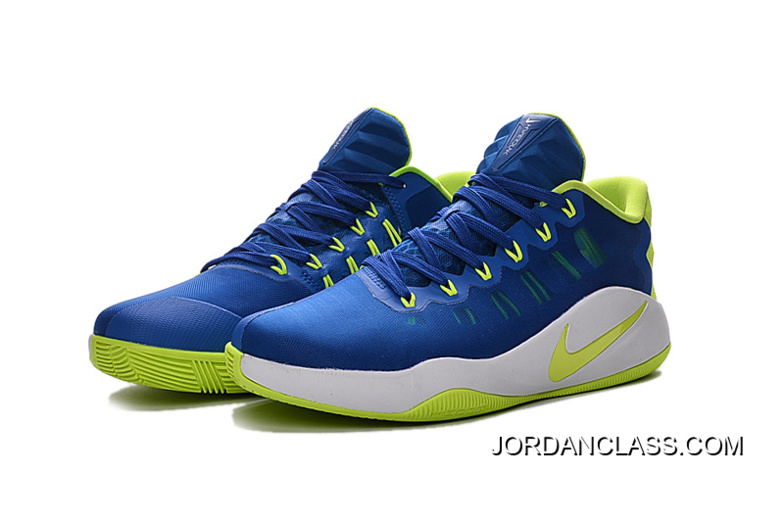 online store 2d584 f9d39 Nike Hyperdunk 2016 Low Royal Blue Green White Men s Basketball Shoes Top  Deals