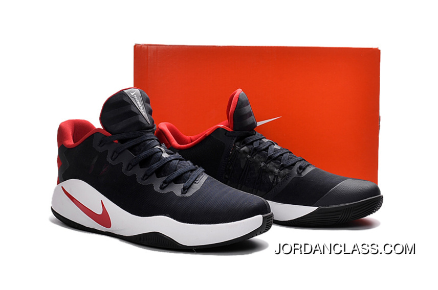 """... Nike Hyperdunk 2016 Low """"USA"""" Black Red White Mens Basketball Shoes  Free Shipping . ... 9af01c876746"""