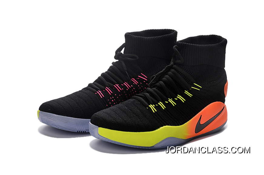 3b1c116c8db Nike Hyperdunk 2016 Unlimited Black Black-Pink Blast-Volt-Total Orange Best