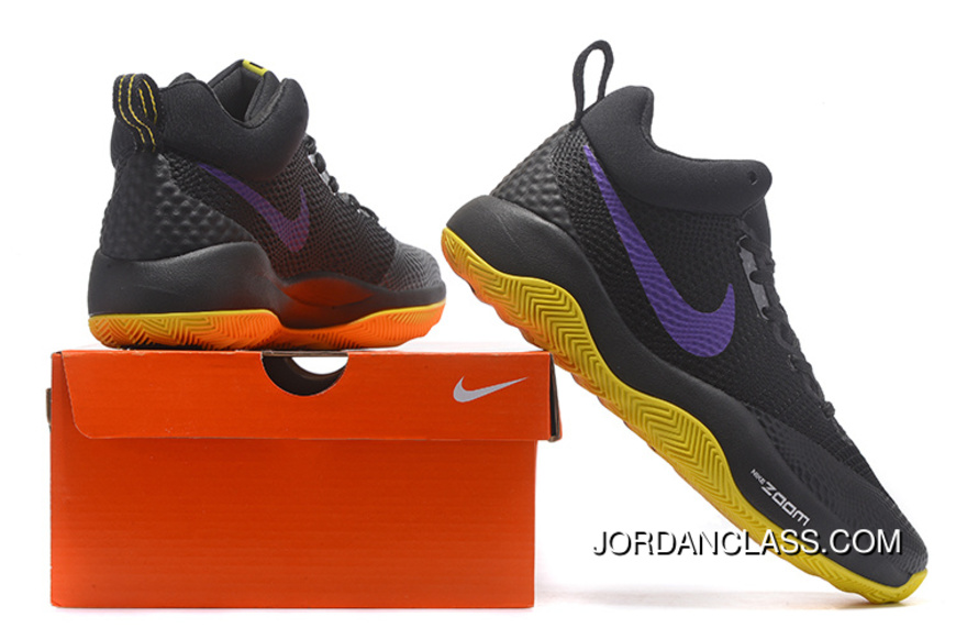 new concept 43153 35ff7 Nike HyperRev Black Purple Yellow Men s Basketball Shoes Lastest
