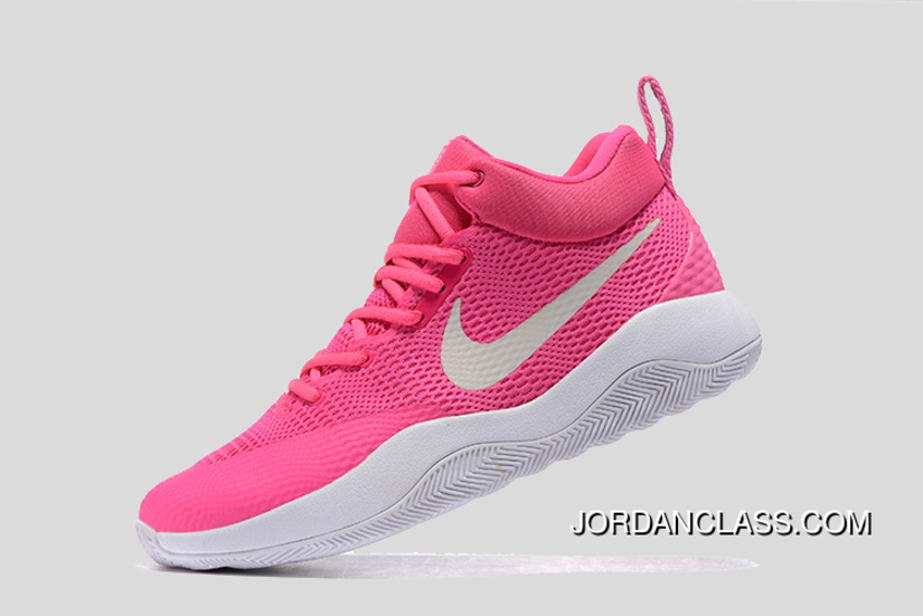 7d3f318d42b46 Nike Hyperrev Pink White Men s Basketball Shoes Authentic