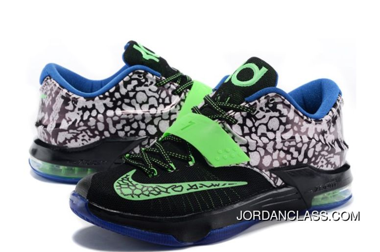 finest selection a106a f5fbd Nike KD 7  Electric Eel  Metallic Pewter Anthracite Lyon Blue Flash