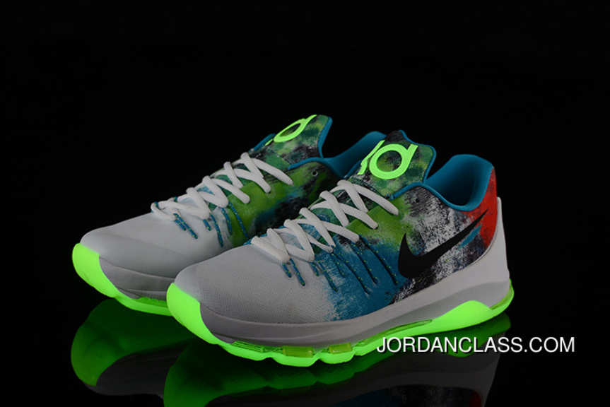 c7d7fc063e48 2015  N7  Nike KD 8 Summit White Lunar Grey Light Liquid Lime ...