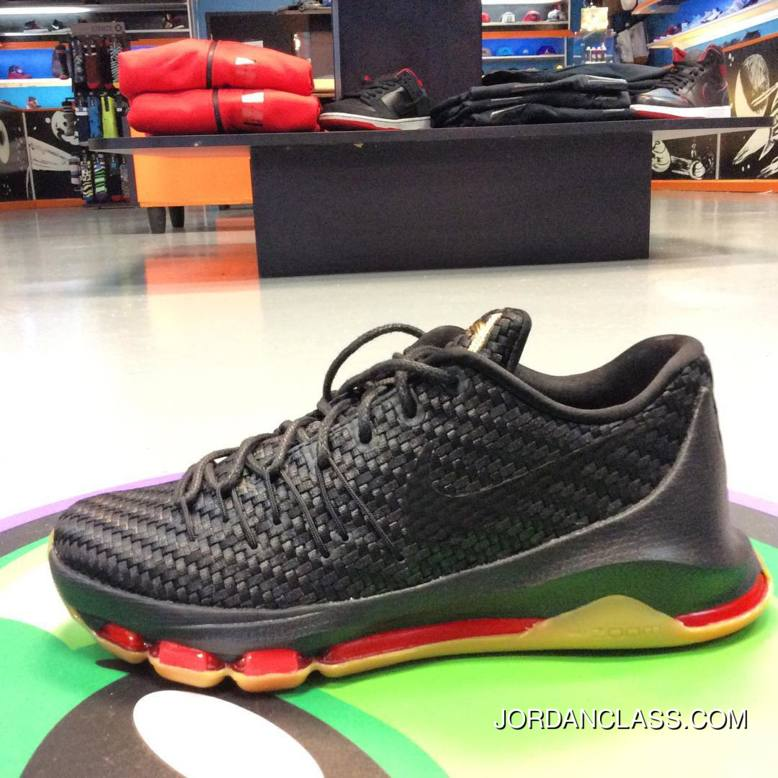 "006c68b285f9 2015 ""Woven Wonder"" Nike KD 8 EXT Black Metallic Gold-Laser Crimson ..."