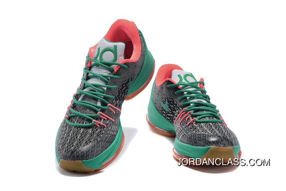 huge selection of f3ac0 95205 Nike KD 8 Dark Grey/New Green Men's Basketball Shoes Top Deals ...
