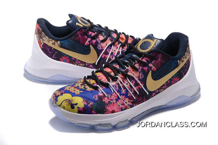 "Nike KD 8 EXT ""Floral"" Multicolor Men s Basketball Shoes Discount ... 98601061e"