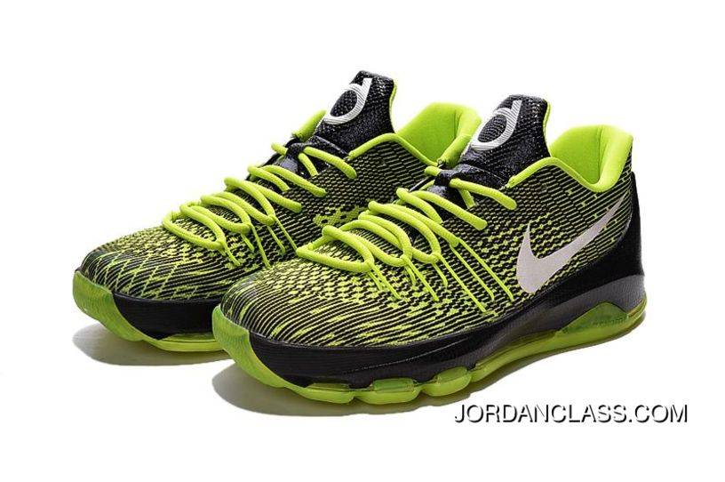 competitive price 00887 cecf2 Nike KD 8 Green Black White Men s Basketball Shoes New Style