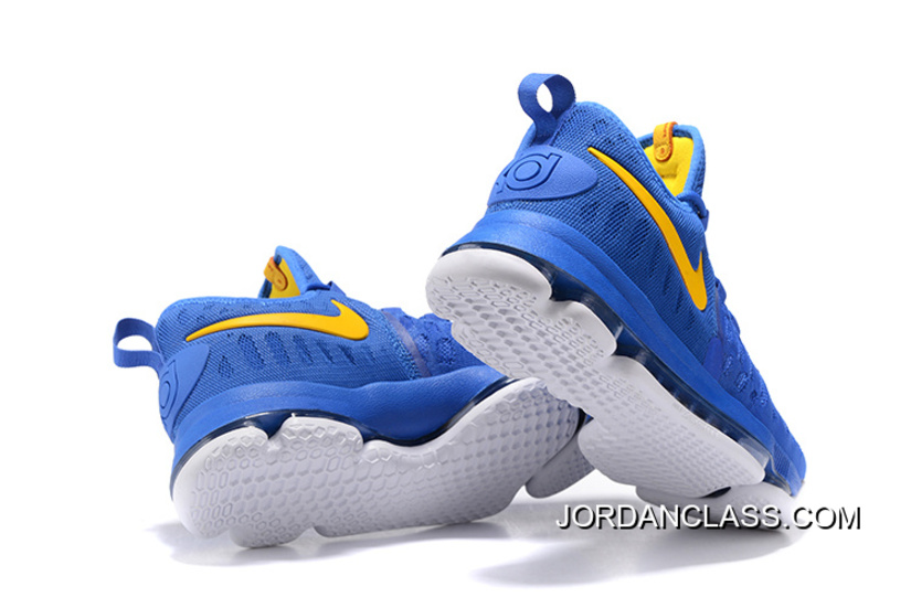 "buy online 2a9ad 350b2 2016 ""Golden State Warriors"" Nike KD 9 Yellow Blue New Release"