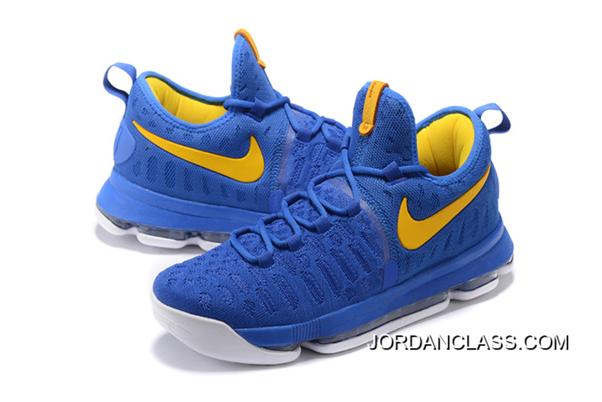 """8927ede2a33638 2016 """"Golden State Warriors"""" Nike KD 9 Yellow Blue New Release ..."""