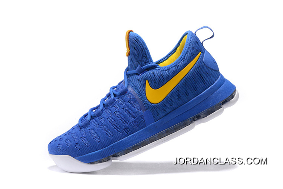 """buy online 1aebf 276f5 2016 """"Golden State Warriors"""" Nike KD 9 Yellow Blue New Release"""