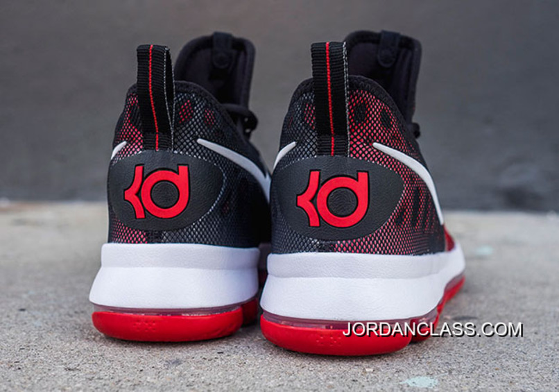 uk availability d7ced 295c0 Nike KD 9 University Red White-Black Men s Basketball Shoes Discount