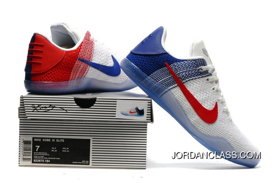 7302cac4525  USA  Nike Kobe 11 Elite Low White University Red Discount