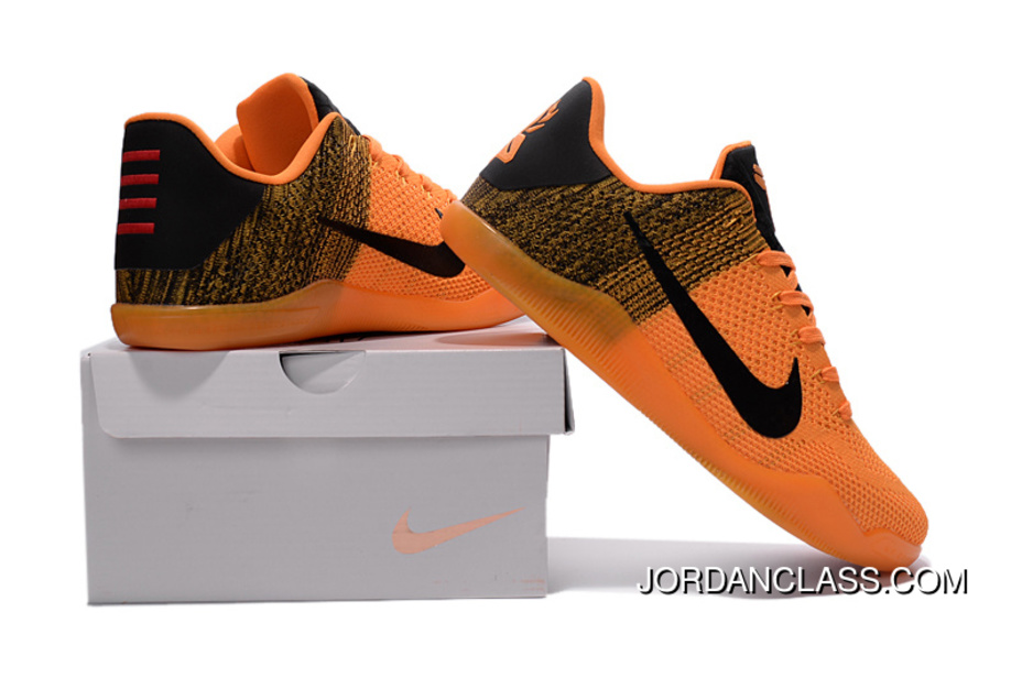 80b5e7f36af Nike Kobe 11 Elite Orange Black Basketball Shoes Online