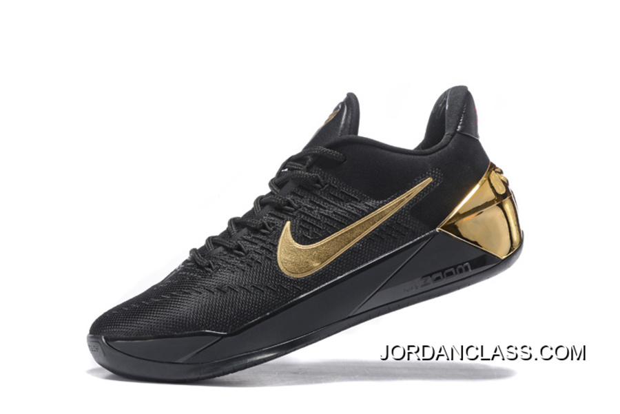 "sale retailer a1e94 41103 ""Mamba Day"" Nike Kobe 12 AD Black Metallic Gold Online"