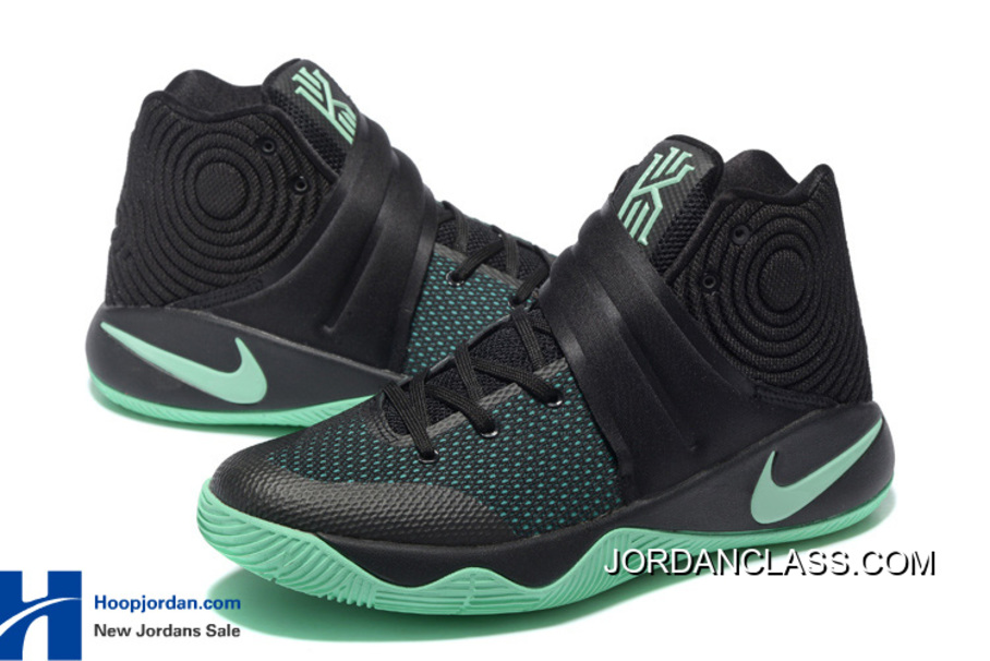 "new styles f4b01 d0ff0 ""Kyrie-Oke"" Nike Kyrie 2 Black Green Glow For Sale """