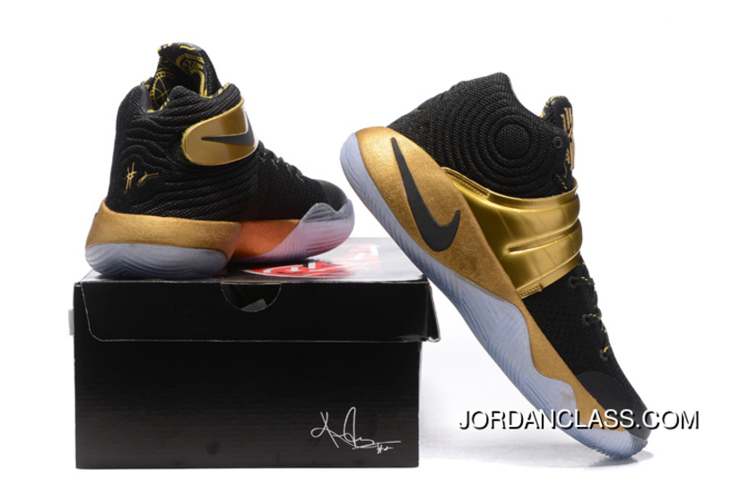 wholesale dealer 99a19 94ad8 Nike Kyrie 2 Black Gold Men s Basketball Shoes New Release