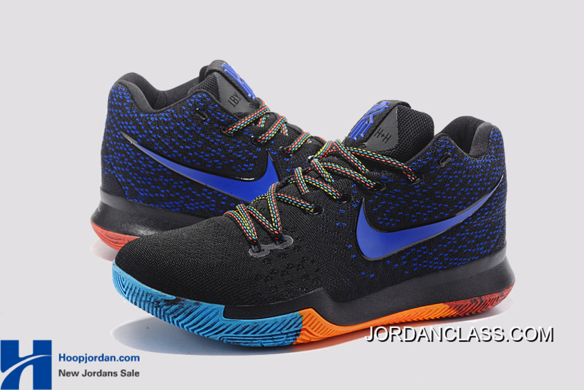 9cea0c07750 ... wholesale nike kyrie 3 black royal blue orange pe mens basketball shoes  discount 5c3d9 5fb60