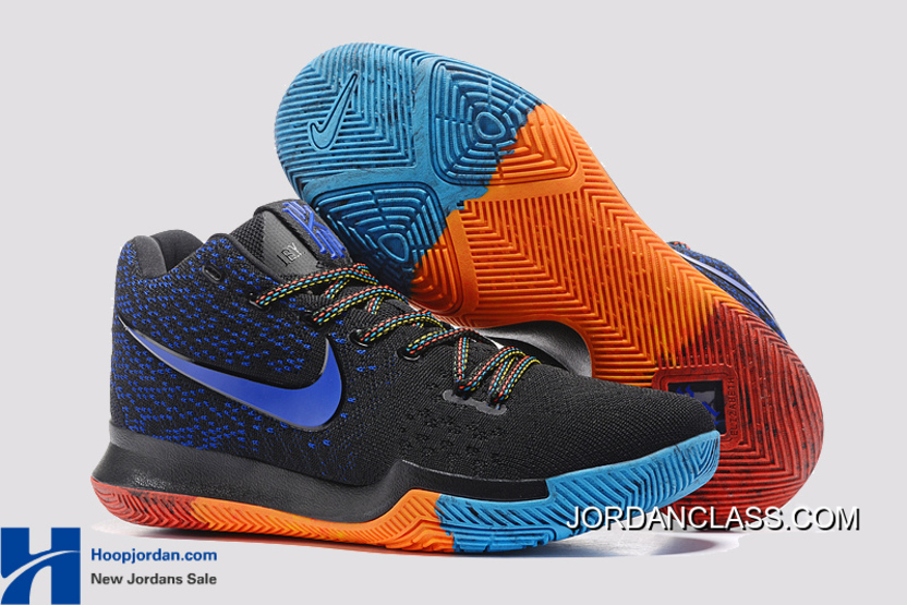 new product 01703 4d924 4c535 7ab00  wholesale nike kyrie 3 black royal blue orange pe mens  basketball shoes discount 040bd 00925
